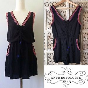 Anthropologie Seed Heritage Embroidered Romper